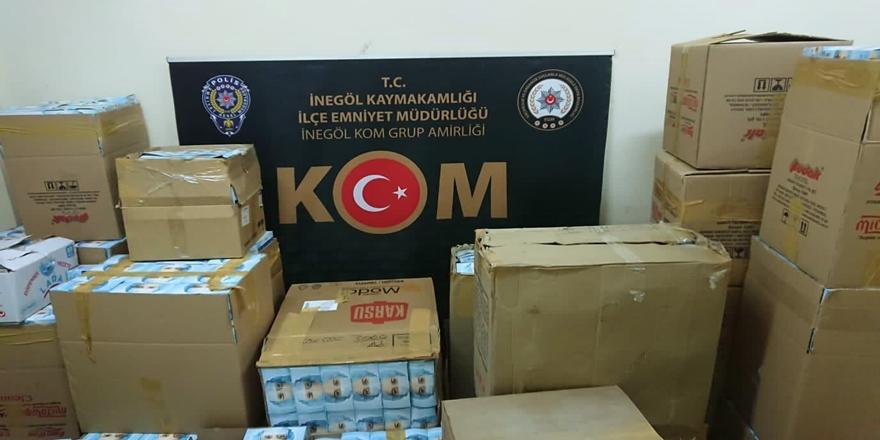 Bursa'da Kaçak Maske Operasyonu! Fabrika Mühürlendi
