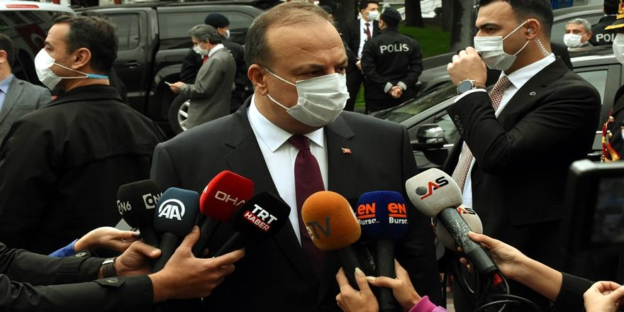 Bursa Valisi Canbolat'tan Filyasyon Ekibi Açıklaması