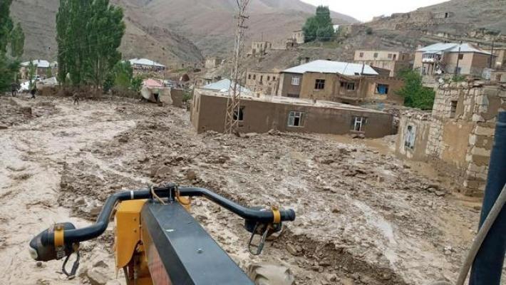 Van Başkale'de Korkutan Sel Felaketi